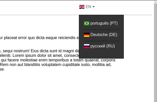 translation dropdown